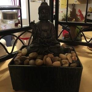 Buddha water fountain.
